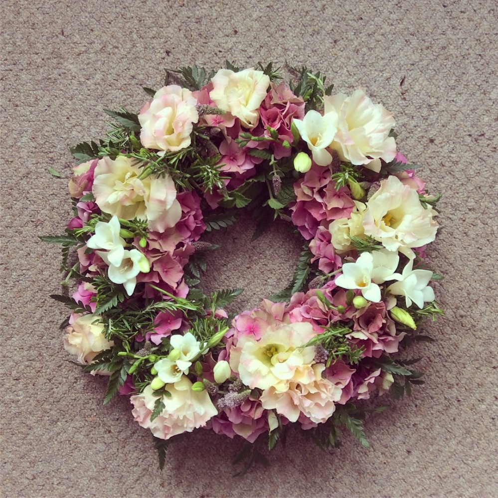 Scented floral wreath