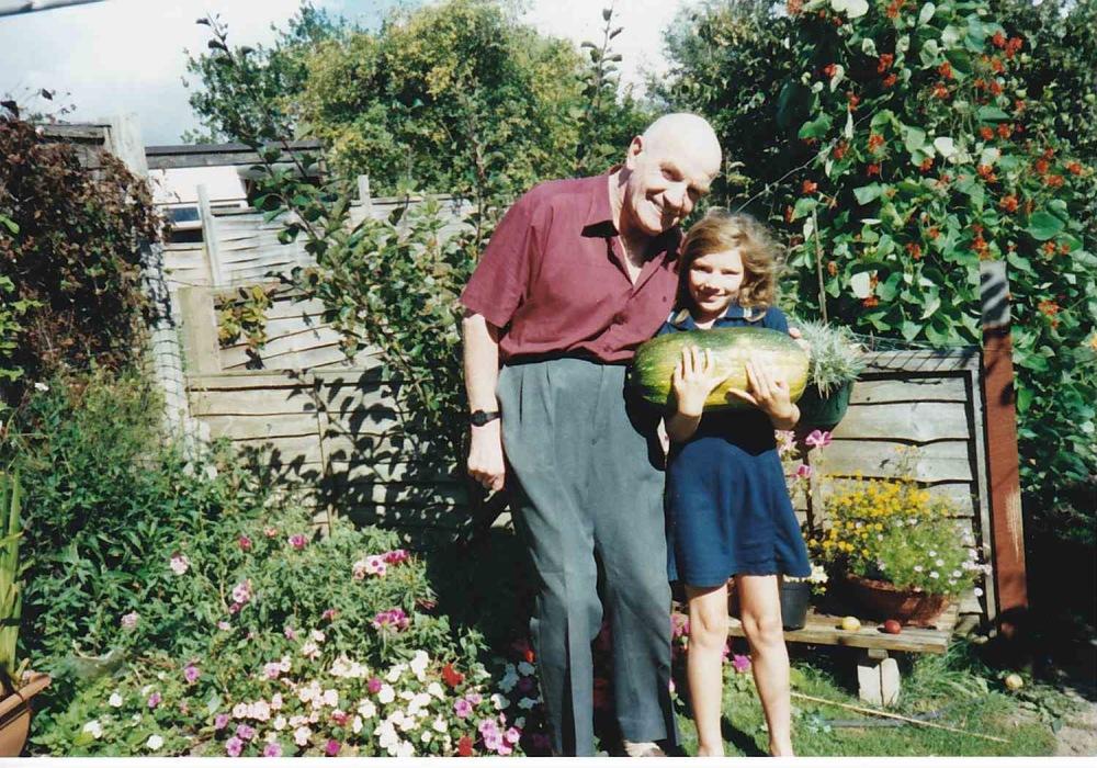 Grandad, me and marrow